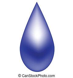 blu, goccia di pioggia