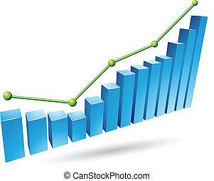 blu, grafico, stats