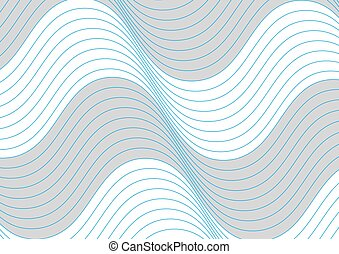 blu, grigio, modello, linee, fondo, onde, bianco