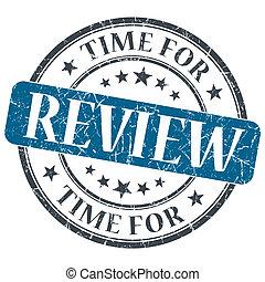 blu, grunge, francobollo, vendemmia, revisione, textured, isolato, tempo