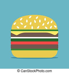 blu, hamburger, fondo