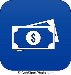 blu, icona americana, dollari, digitale