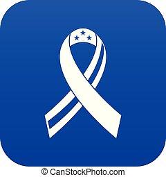 blu, icona americana, nastro, digitale