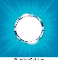 blu, illuminato, spazio, testo, illustrazione, metallico, vettore, luce, anello