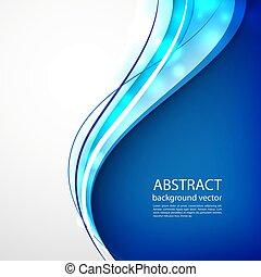 blu, illustration., astratto, fondo., vettore, linea