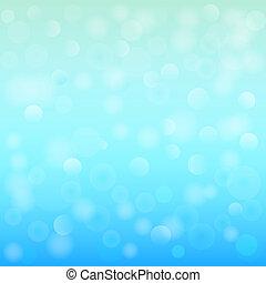 blu, illustration., luce, astratto, fondo., bokeh, vettore