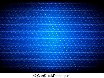 blu, illustration., luce, astratto, vettore, grid.