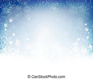 blu, inverno, astratto, fondo, natale, bianco