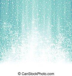 blu, inverno, astratto, nevicata, fondo, natale bianco