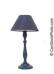 blu, lampada pavimento, isolato