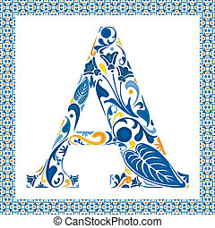 blu, lettera