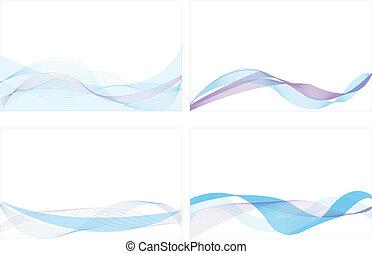 blu, linea, astratto, fondo