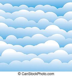 blu, livelli, nubi, questo, luce, astratto, contiene, -, illustrazione, colorare, vettore, fondo, (backdrop), 3d, graphic., lanuginoso
