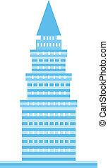 blu, logotipo, torre, immagine
