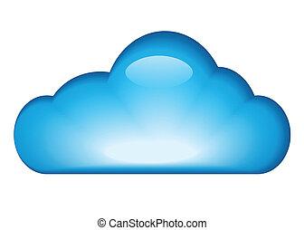 blu, lucido, nuvola