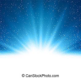 blu, magia, luce, astratto, vettore, fondo, baluginante