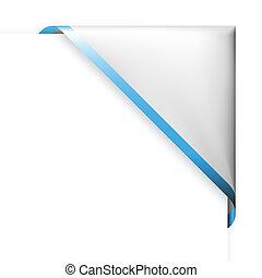 blu, magro, angolo, bianco, bordo, nastro