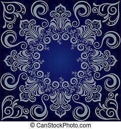 blu, mandala, fondo