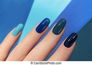 blu, manicure.