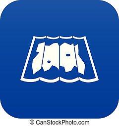 blu, mappa, icona, digitale