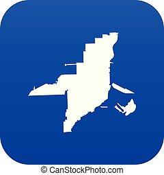 blu, mappa, icona, florida, digitale