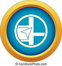 blu, mappa, isolato, vettore, navigazione, icona