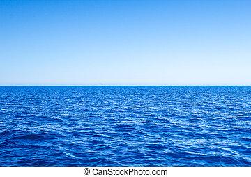 blu, mare, sky., marina, chiaro, mediterraneo, linea orizzonte