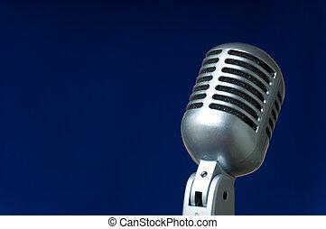 blu, microfono