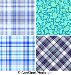 blu, modelli, set, seamless