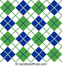 blu, modello, argyle, verde