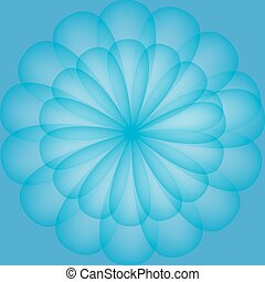 blu, modello, astratto, fiore, colorare