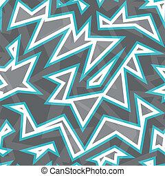 blu, modello, astratto, geometrico, seamless