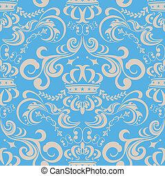 blu, modello, astratto, seamless