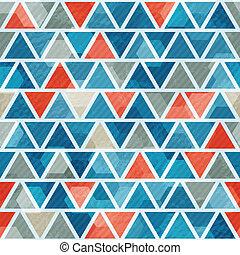 blu, modello, astratto, triangolo, seamless