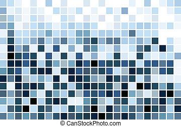 blu, mosaico, carta da parati