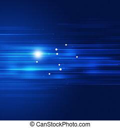 blu, movimento, astratto, tecnologia, fondo
