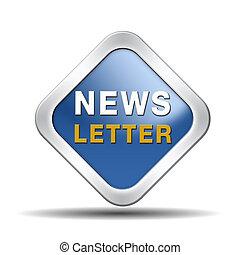 blu, newsletter, icona