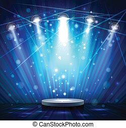 blu, palcoscenico