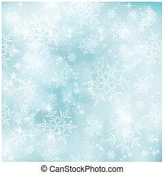 blu, pastello, inverno, modello, morbido, natale, blurry