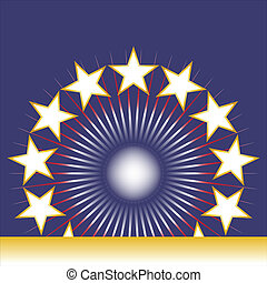 blu, patriottico, fondo, stati uniti, stelle