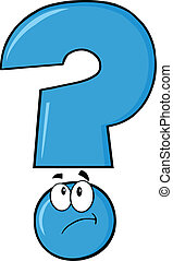 blu, pensare, punto interrogativo
