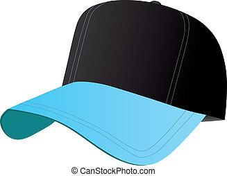 blu, protezione baseball, nero