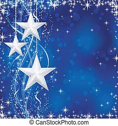 blu, punti, stelle, occasions., inverno, transparencies., luce, festivo, linee, neve, /, natale, ondulato, fiocchi, no, fondo, tuo