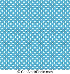 blu, puntino, polka, seamless, fondo