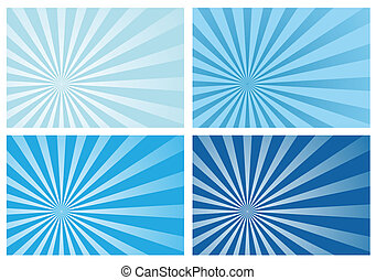 blu, raggio, scoppio sole, luce