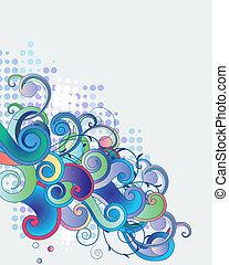 blu, rami, luce, astratto, capriccio, fondo