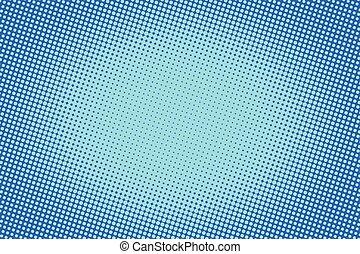 blu, raster, pendenza, halftone, retro, fondo, comico
