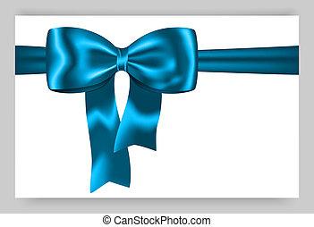 blu, regalo, nastro