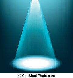 blu, riflettore, lucente