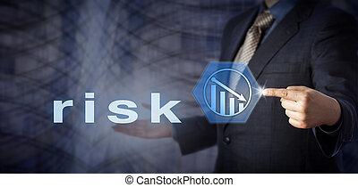 blu, rischio, consulente, scheggia, riduzione, attivare